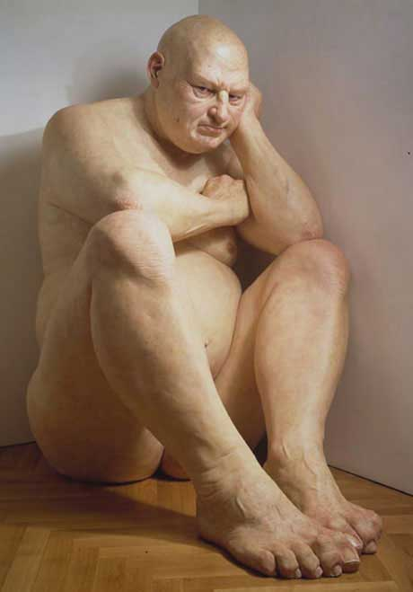 Escultura de Ron Mueck, Big Man